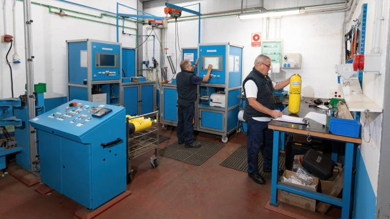 Mantenimiento inspección botellas